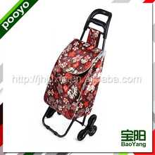 promotion shopping cart bag eco-friendly 3 wheels can climb stair trolleys