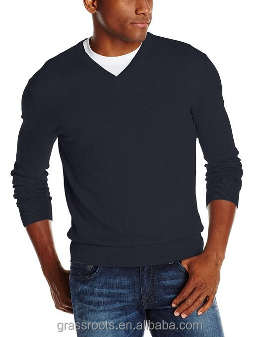 European style v neck sweater for men