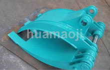 Excavator hydraulic clamp log grapple for sale