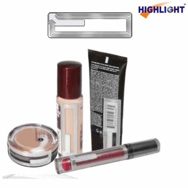 HIGHLIGHT RL026 retail security EAS 8.2MHz cosmetic transparent security label RF/ anti theft label for lipstick
