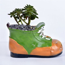 Customized Handmade Color Painted Garden/Home Decorative Shoes Succulent Planters Vase