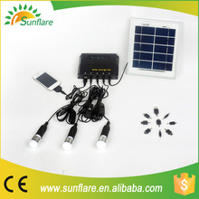 portable rechargeable led solar panel kit for home lighting
