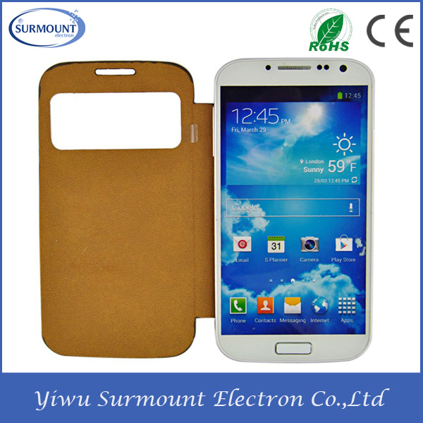 High Wholesale 2014 Back Cover Leather Case For Galaxy S4 Mini