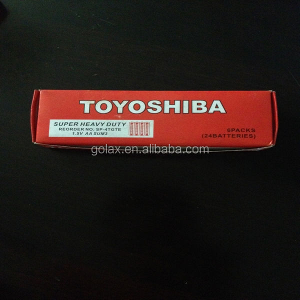 AA R6 UM-3 Toyoshiba dry battery for African and Indian market