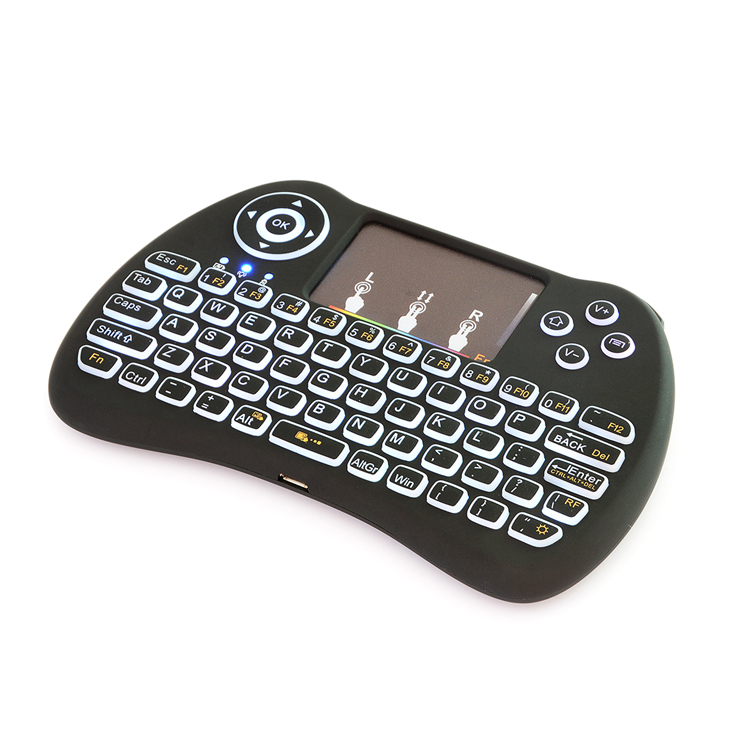 Wholesale H9 adjustable colorful wireless mini computer keyboard for android tv