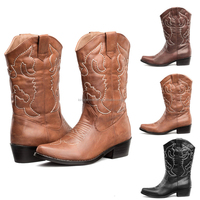 black tan brown cowgirl&cowboy genuine leather western boots wholesale