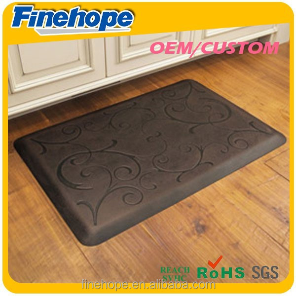 Mat For Kitchen PU Polyurethane Foam Waterproof Washable Anti Fatigue Slip Kitchen Mat OEM Customize Manufacturer