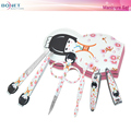 BMS0411D 6pcs Stainless Steel High Quality Fashion Grooming Case Travel Manicure Set