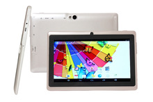 Wholesale 7 inch Q88 tablet pc A33 quad core dual cameras with Flashlight Android 4.4 WiFi OTG 512MB RAM/4GB ROM
