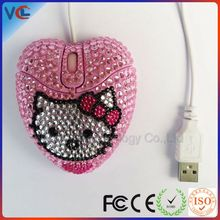 shenzhen bling 3d diamond usb lovely cute wired mouse