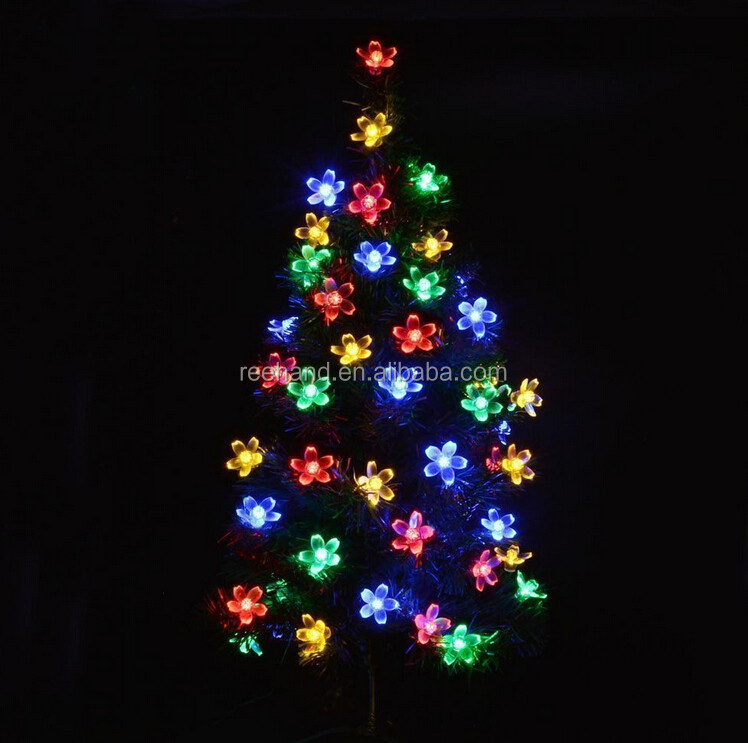 Free Shipping 50 Led Flower String Lights Rechargeable Christmas Ornament Led Light Indoor ...