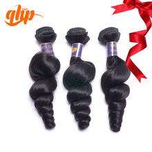 QHP hair grade 100% unprocessed virgin mink brazilian remy virgin loose wave hair