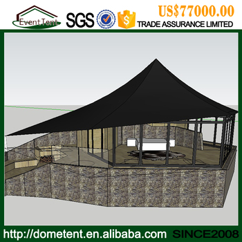Hot Sale Custom Made Hospitality Catering Aluminum Luxury Hotel Resort Tent For Party
