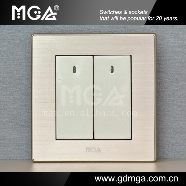MGA LED switch & wall mounted electric switches & wall electric switch