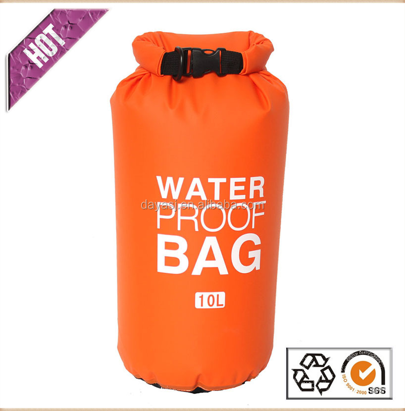 PVC tarpaulin waterproof dry bag with your custom logo for swimming drifting
