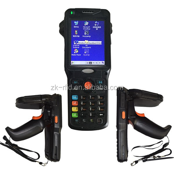 Windows CE 6.0 Long range handheld UHF RFID reader Industrial PDA with Bluetooth, WiFi, 3G WCDMA