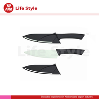 6''ceramic Chef knife with super knife blade as damascus chef knife