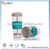 Double wall tea tumbler with filter