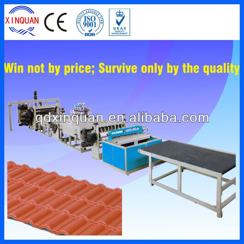 High quality PC/PS wavy board corrugated plastic sheet,roofing sheet machine
