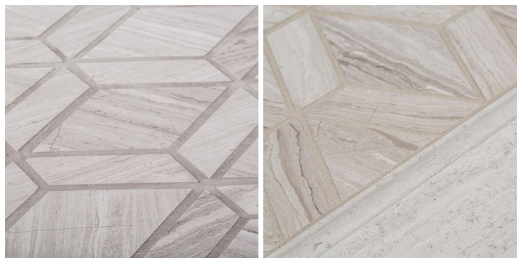 Decorstone24 Chinese Gray Wood Look Marble Bathroom Wall Tiles Mosaic
