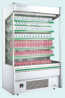 Multi deck open face refrigerator