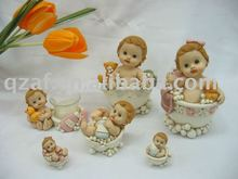 polyresin baby bathe figurine series