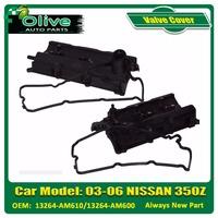 Left & Right Engine Valve Covers for 03-06 Nissan 350Z /03-06 G35 V6 3.5L -2 PCS