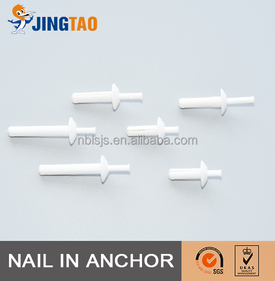 Factory Price NYLON HAMMER DRIVE ANCHOR,MUSHROOM HEAD WITH COLOURED SCREW-NAIL