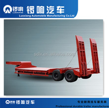 Cheap factory made flatbed semi truck 40ft container flat bed trailer
