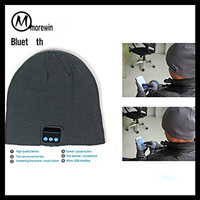 2016 Morewin wholesale Bluetooth Beanie Slouchy Knit Beanie Hat Wireless Bluetooth Headphone Headset Earphone Music beanie