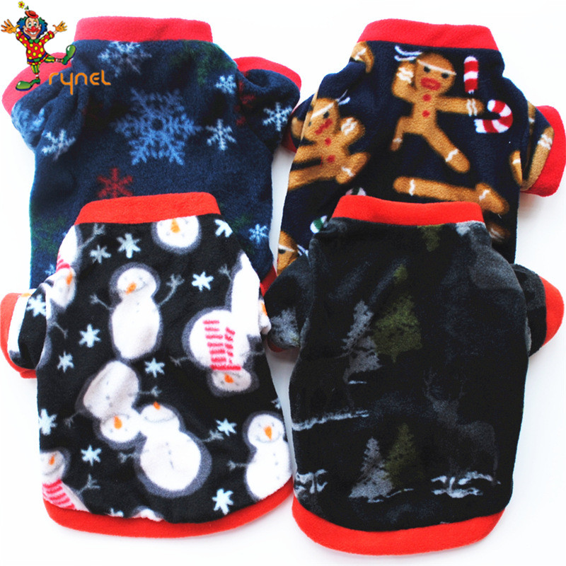 PGPC0613 Wholesale Cute Festival Christmas Snow Flower Pet Dog Hoodies Clothes