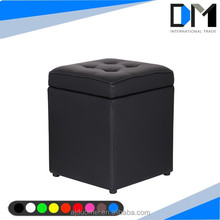leather cube pouf ottoman stool , indian ottoman box footstools