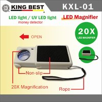 KING BEST cheap magnifying glass portable Magnifier with Currency Detecting Function UV LED light Magnifier