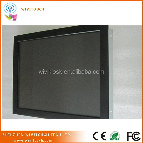 15inch SAW no frame LCD monitor industrial touch screen monitor
