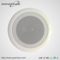 Public Address System 6.5 Inch Bass Round Fabric Ceiling Speaker