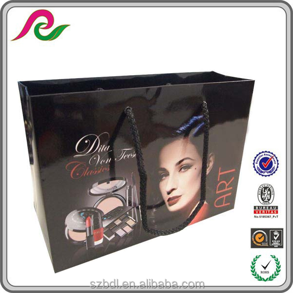 photo studio paper packages bag full color, promotional packing bag paper