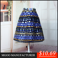 Hot Sale Stock Organza Plaid Brand Design Womens Skirt Long Two Layers Skirt For Party A368