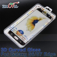 3D full curved tempered glass screen for samsung galaxy S7 edge