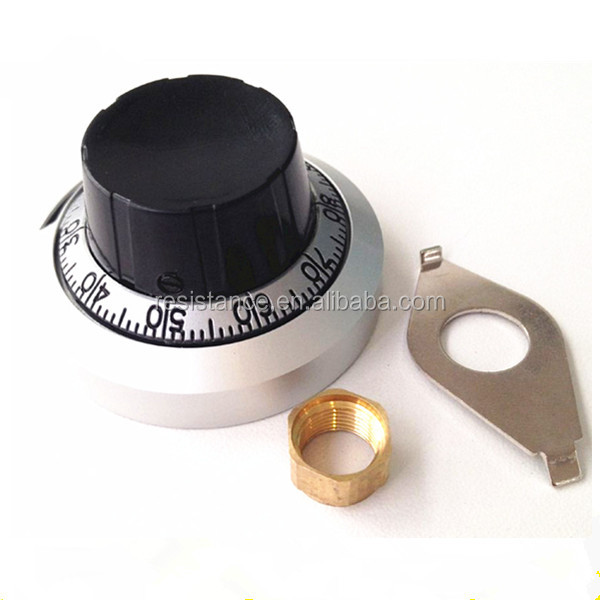 B2 6.35mm diamater 46mm width potentiometer knob for 3590