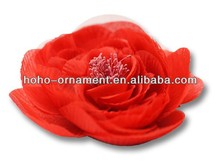 2014 Fashion jewerly handmade satin flower brooches