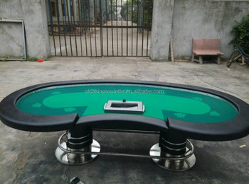 Stainless steel pedal poker table