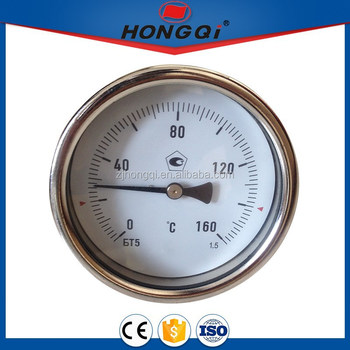 Gas oven bi-metal thermometer used in wall mounted