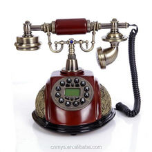 Fashionable retro solid wood upscale telephone