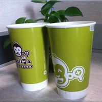 PE coated cold soda drink paper cup blank