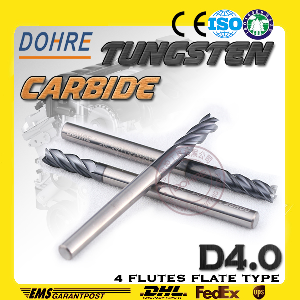 best manufacturer 2 flutes cutting end mills sides