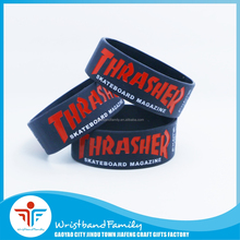 Thrasher Wrist Band Custom Cheap Silicone Wristbands Rubber Bracelet