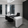 modern white office desk solid surface office counter desk top