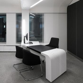 Modern White Office Desk Solid Surface Office Counter Desk