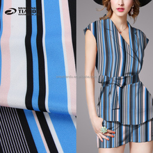 new fashion hot selling polyester spandex screen print silk satin fabric