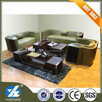 Drawing room Synthetic leather sofa set designs